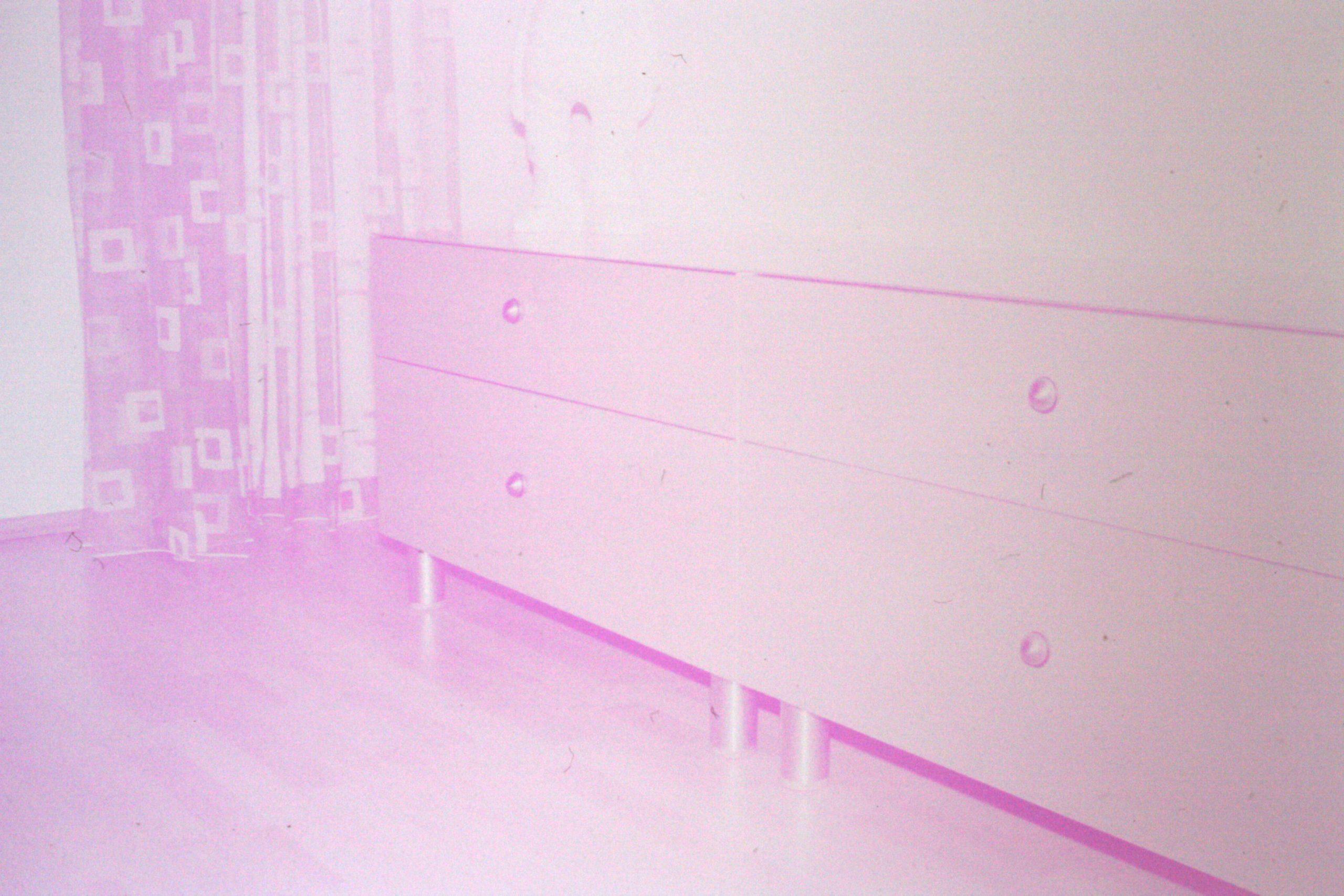 Möbelfoto auf altem Diafilm